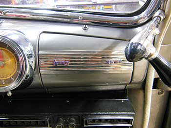 "1946 Mercury Coup Installed a Kenwood Excelon Bluetooth Receiver and a pair of 6.5"" Kenwood Excelon speakers."