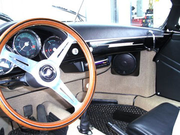 1957 PORSCHE SPEEDSTER REPLICA - INSTALLED KENWOOD CUSTOM MOUNTED AM/FM/CD RECEIVER WITH BUILT-IN HD RADIO.