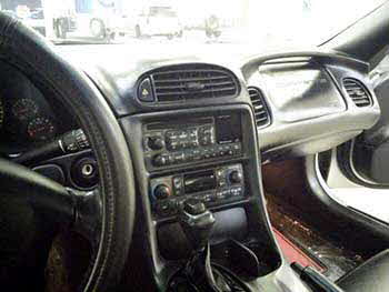 "2004 Corvette. Custom molded/cut dash to fit a Kenwood double din 6.1"" entertainment system"