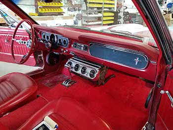 66 Mustang. Installed an alarm with starter interrupt. Nice ride!