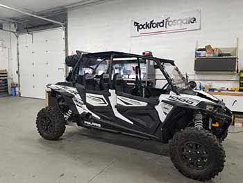 RZR 1000 in for a Rockford Fosgate Stage 3 kit.