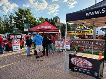 9-28-19 Ute tail gate with 1280 the Zone and Rockford Fosgate
