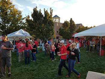 Tailgate last Saturday Utah vs Stanford with Pioneer and 1280 the Zone.