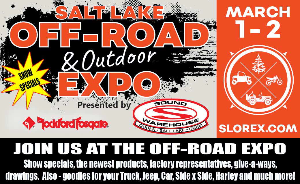 Come join us at the Off-Road Expo!