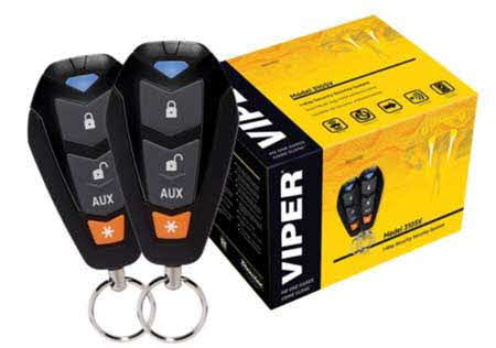 VIPER 3-Channel, 1-way Car Alarm Security System w/ Keyless Entry and Two Remote Transmitters