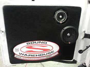 "Kenwood Excelon USB Am/Fm CD head unit, w/Rockford Fosgate Punch Pro 6"" Mids & Punch Pro 4"" Tweeters in custom made door panels Powered by a four channel RF Punch amp and a 15"" RF Punch sub in a custom ported box, Powered by a mono RF Punch amp."