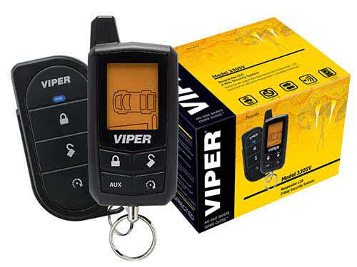 VIPER Car security and keyless entry system with 2-way LCD remote