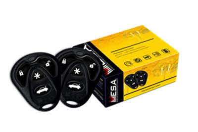MESA 1-Way 4 Button Remote Start System, Keyless Entry and 2 Remote Transmitters