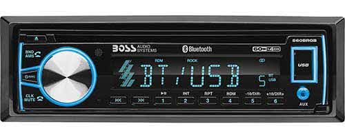 BOSS AUDIO SYSTEMS - Single DIN Bluetooth In-Dash CD/AM/FM Car Stereo Receiver