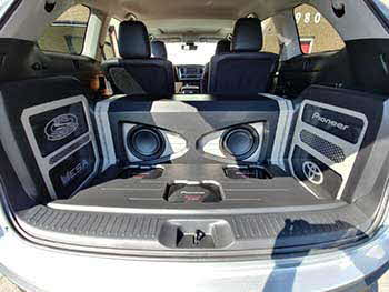 2017 Toyota Highlander. Sound Warehouse is the winner of Pioneer�s national  build-of contest showcasing Pioneer�s innovative new Z Series car speakers engineered for hi-resolution audio. We installed all Pioneer electronics:  Apple CarPlay & Android auto multimedia entertainment, 1 pair full range Z Series, 1 set component Z Series, 2 ea. 12� Z Series subwoofers and 3 power amplifiers. Also used MESA sound damping, MESA wire and Race Sports lighting. This Pioneer Toyota will be touring the USA showcasing Pioneer�s new Z Series speakers.