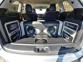 "2017 Toyota Highlander. Winner of Pioneer's national build-of contest showcasing their new line of Z Series speakers. Installed all Pioneer electronics: Apple CarPlay & Android Auto Multimedia Entertainment, 1 pair full range Z Series, 1 set component Z Series, 2 ea. 12"" Z Series subs & 3 power amps. Also used MESA sound damping & wire and Race Sports Lighting."