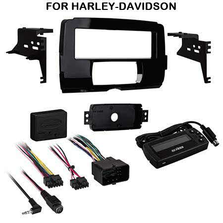Metra Install and connect a single-DIN receiver in select 2014-up Harley-Davidson models