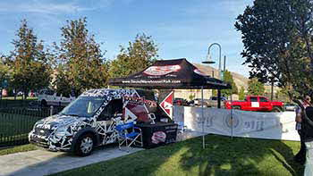 At the 1280 the Zone Tailgate party for the Utah vs Arizona Game. We did this event with Miller Lite, Rockford, Pioneer and Kenwood.