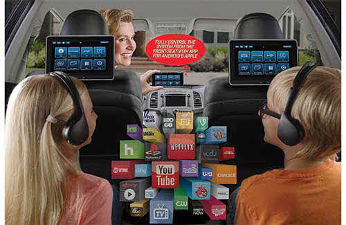 "Advent Dual 10.1"" Seat-Back Entertainment System"