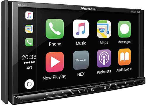"PIONEER Multimedia DVD Receiver with 7"" WVGA Display, Apple CarPlayTM, Android AutoTM, Built-in Bluetooth�, HD Radio� Tuner, SiriusXM-Ready� and AppRadio Mode +"