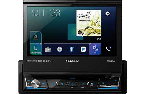 "PIONEER 1-DIN Multimedia DVD Receiver with 7"" WVGA Display, Apple CarPlay�, Android Auto�, Built-in Bluetooth�, SiriusXM-Ready� and AppRadio Mode +"