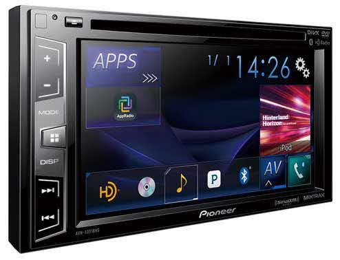 "PIONEER Multimedia DVD Receiver with 6.2"" WVGA Display, MIXTRAX�, Built-in Bluetooth�, HD Radio� Tuner, SiriusXM-Ready�, and AppRadio One�"