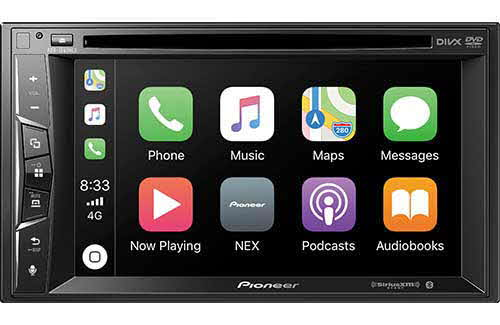 "PIONEER NEX Multimedia DVD Receiver with 6.2"" WVGA Display, Apple CarPlay�, Built-in Bluetooth�, SiriusXM-Ready�, iDataLink� Maestro�, and Remote Control Included"