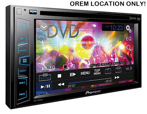 "PIONEER Double DIN In-Dash DVD/CD/AM/FM Car Stereo w/ 6.2"" WVGA Display"