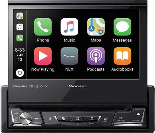 "PIONEER NEX 1-DIN Multimedia DVD Receiver with 6.8"" WVGA Display, Apple CarPlay�, Android Auto�, Built-in Bluetooth�, and SiriusXM-Ready�"