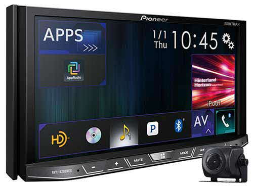 "PIONEER 2-DIN Flagship Multimedia DVD Receiver with 7"" WVGA Touchscreen Display and included ND-BC8 Back-Up Camera"