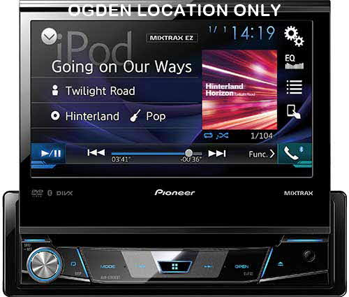 "Pioneer 1-DIN DVD Receiver with 7"" Flip-out Display, Bluetooth�, Siri� Eyes Free, Spotify�, and AppRadio One�"