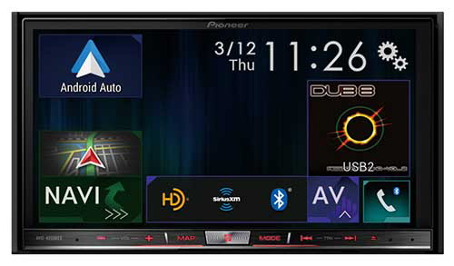 PIONEER Double-DIN In-Dash Navigation AV Car Stereo with 7� WVGA Capacitive Touchscreen Display with Android Auto and Apple Carplay