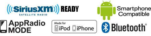 SiriusXM Ready, App Radio Mode, Made for iPod/iPhone, Bluetooth, Android Smartphone Compatible