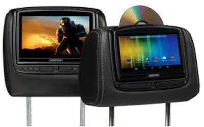 AUDIOVOX Custom Headrest Monitors - Dual Touch-screen Monitor Systems with DVD, HDMI/MHL