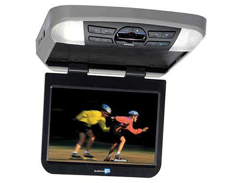 VOXX Electronics 10 inch widescreen LED backlit monitor / DVD player with built-in dome lights