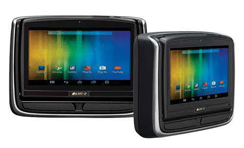 AUDIOVOX Custom Seat Back Monitors - Dual Touch-screen Monitor Systems with Android, DVD, HDMI/MHL