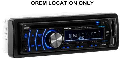BOSS Single DIN Bluetooth In-Dash DVD/CD/AM/FM Receiver w/ Detachable faceplate and Front USB/SD/3.5mm Auxiliary Inputs