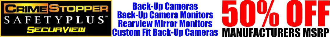 Back Up Cameras up to 50% off!