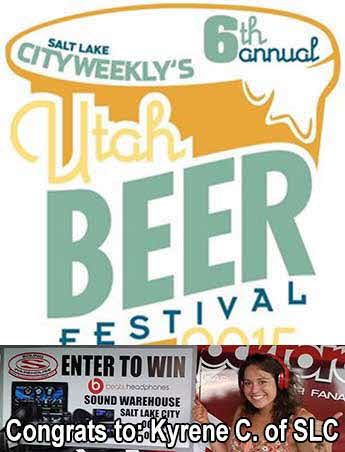 Congrats to Beerfest 2015 Winner Kyrene C. of Salt Lake City!