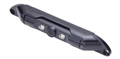 "ECHOMASTER 1/4"" CMOS Bar Type License Plate Camera with Black Metal Finish for Front or Rear View"