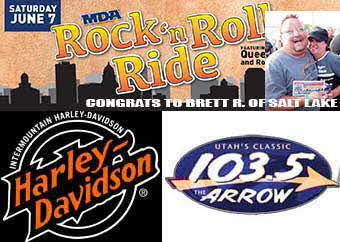Contest Winner MDA Rock'n Roll Ride - Congrats to Brett R. of Salt Lake!
