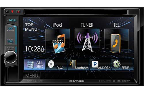 "Kenwood Double DIN Bluetooth In-Dash DVD/AM/FM Receiver w/6.2"" Touchscreen LCD Display & SiriusXM Compatiblity"