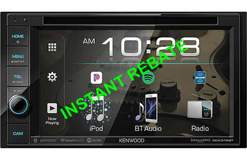 KENWOOD 6.2� DVD Receiver with Bluetooth