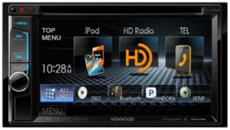 "Kenwood 6.2"" In Dash Double Din Monitor Receiver with Built in Bluetooth"