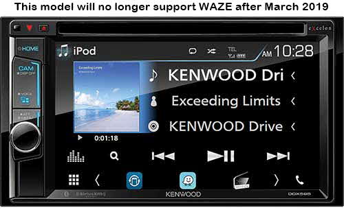 "Kenwood 6.2"" DVD Receiver with Bluetooth"