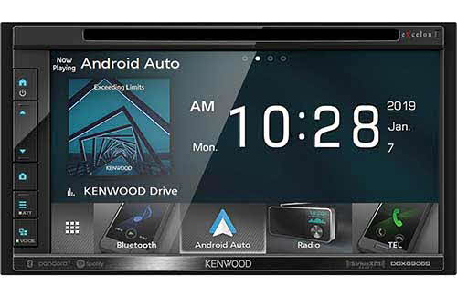 "Kenwood eXcelon Double DIN 6.8"" DVD Receiver with Bluetooth"
