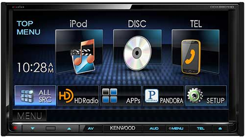 "Kenwood excelon  In-Dash 6.1"" Double DIN Monitor Receiver With Bluetooth And HD Radio"