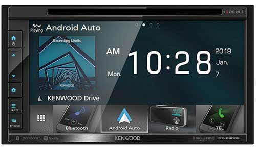 "Kenwood eXcelon 6.95"" WVGA Capacitive Screen Double DIN Bluetooth Stereo Receiver w/ Apple CarPlay & Android Auto"