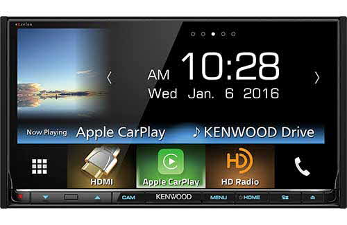 "Kenwood excelon Double DIN Bluetooth In-Dash DVD/CD/AM/FM Car Stereo w/ 6.95"" Touch Screen with Android Auto/Apple Carplay and Built-in HD Radio"