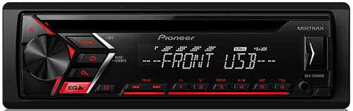 PIONEER Single DIN In-Dash CD/AM/FM Car Stereo Receiver w/ MIXTRAX and ARC Support