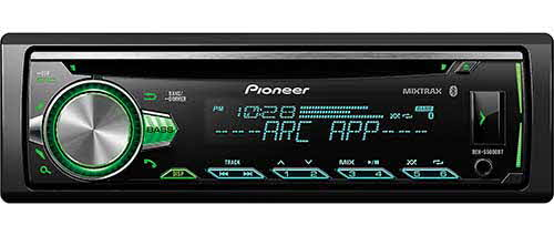 PIONEER Single DIN Bluetooth In-Dash AM/FM/Digital Media Car Stereo Receiver w/ 3 Pre Outs