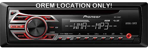 PIONEER In-Dash CD/MP3/WMA Car Stereo Receiver w/ Front Auxiliary Input, Preamp RCA Outputs & Remote Control