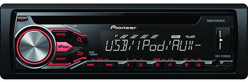 PIONEER Pioneer Single DIN CD Car Receiver With MIXTRAX, USP Playback, Android Music Support, and Pandora