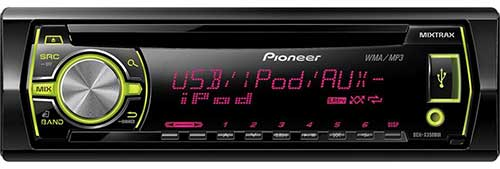 PIONEER In-Dash CD/MP3/USB Car Stereo Receiver w/ Pandora Support, MIXTRAX & Variable Color Illumination