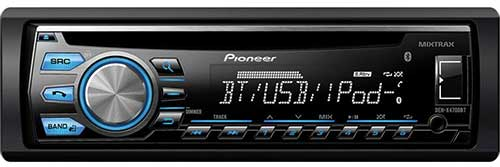 PIONEER Single DIN Bluetooth In-Dash CD/AM/FM Receiver w/ MIXTRAX and Pandora Support